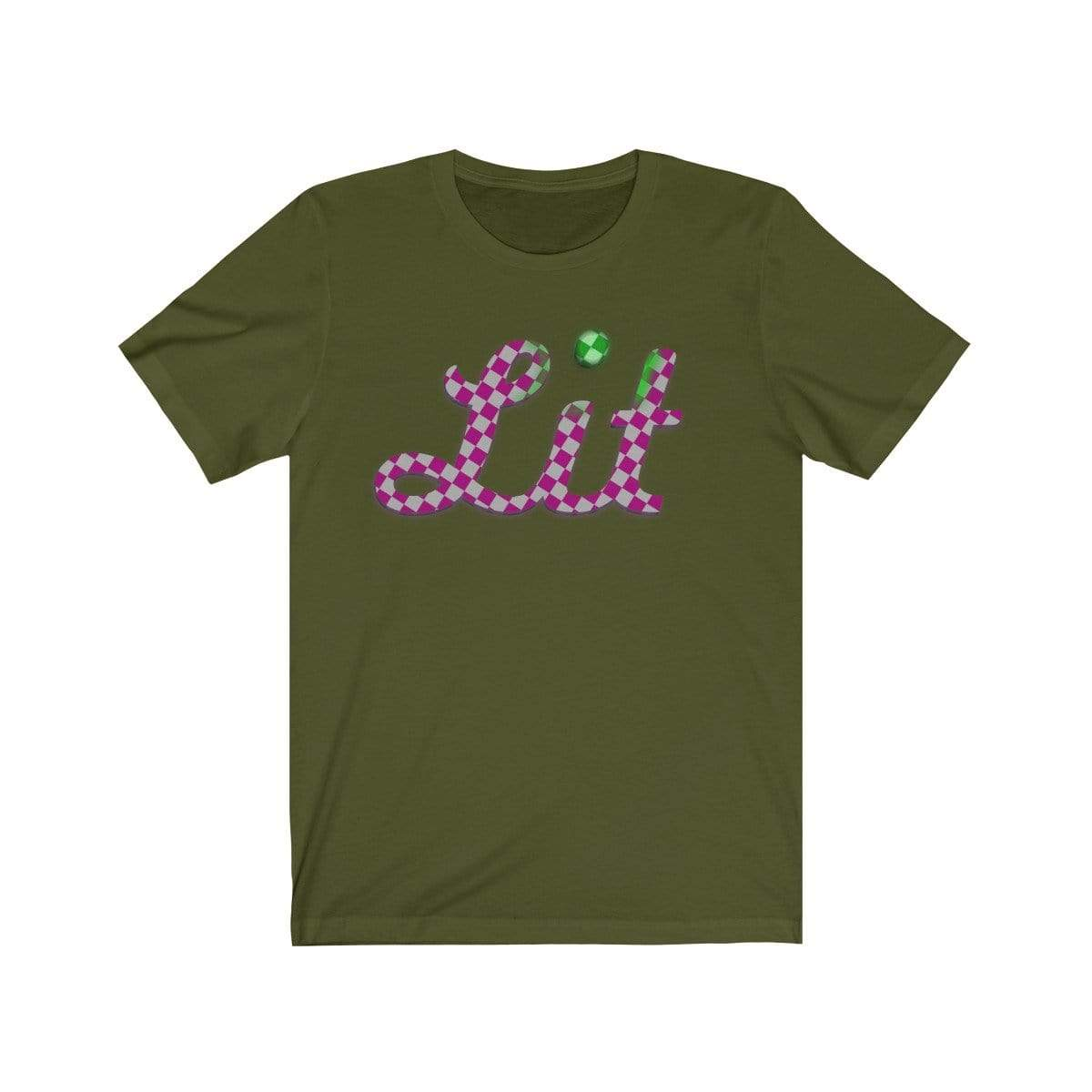 Plumskum T-Shirt Olive / S Pink Checkered Lit T-shirt
