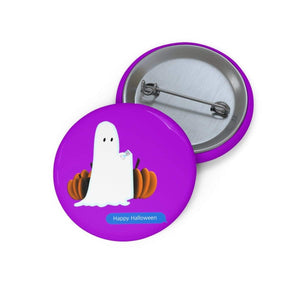 "Printify Accessories 1"" Funny Happy Halloween Text Message Pin Buttons"