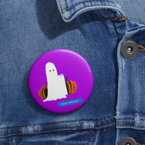 "Printify Accessories 2"" Funny Happy Halloween Text Message Pin Buttons"