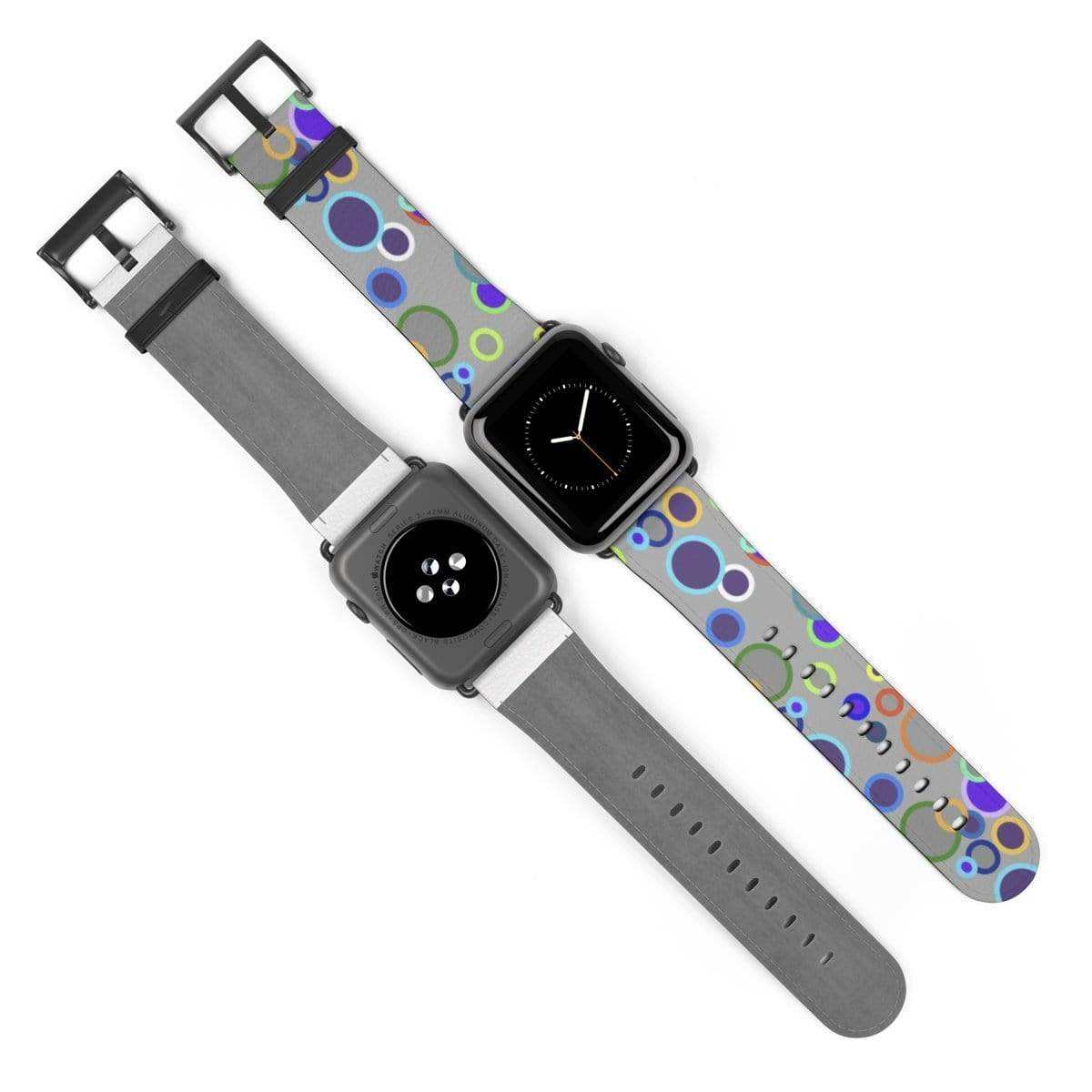 Printify Accessories 42 mm / Black Matte Plumskum Original Pattern Apple Watch Band