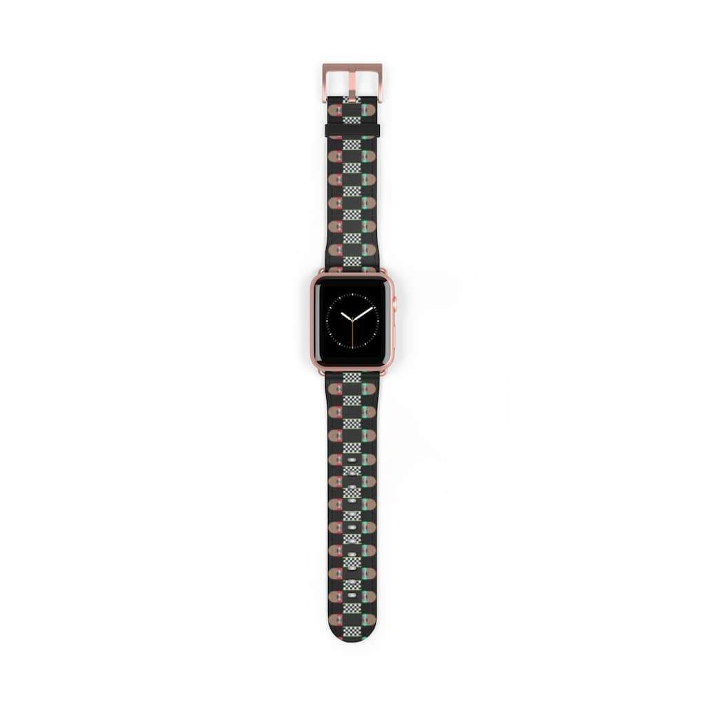 Printify Accessories 42 mm / Rose Gold Matte Skateboard Bandolier Apple Watch Band