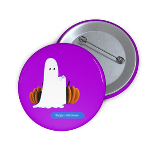 Printify Accessories Funny Happy Halloween Text Message Pin Buttons