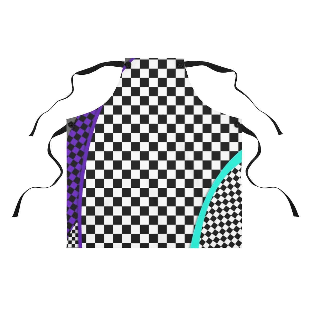 Printify Accessories One Size Checkered Chef Apron by Plumskum