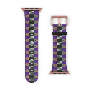 Printify Accessories Skateboard Bandolier Apple Watch Band Signature Purple