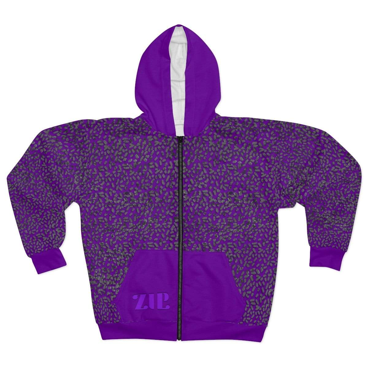 Printify All Over Prints L Plumskum Cut Sew AOP Zip Hoodie