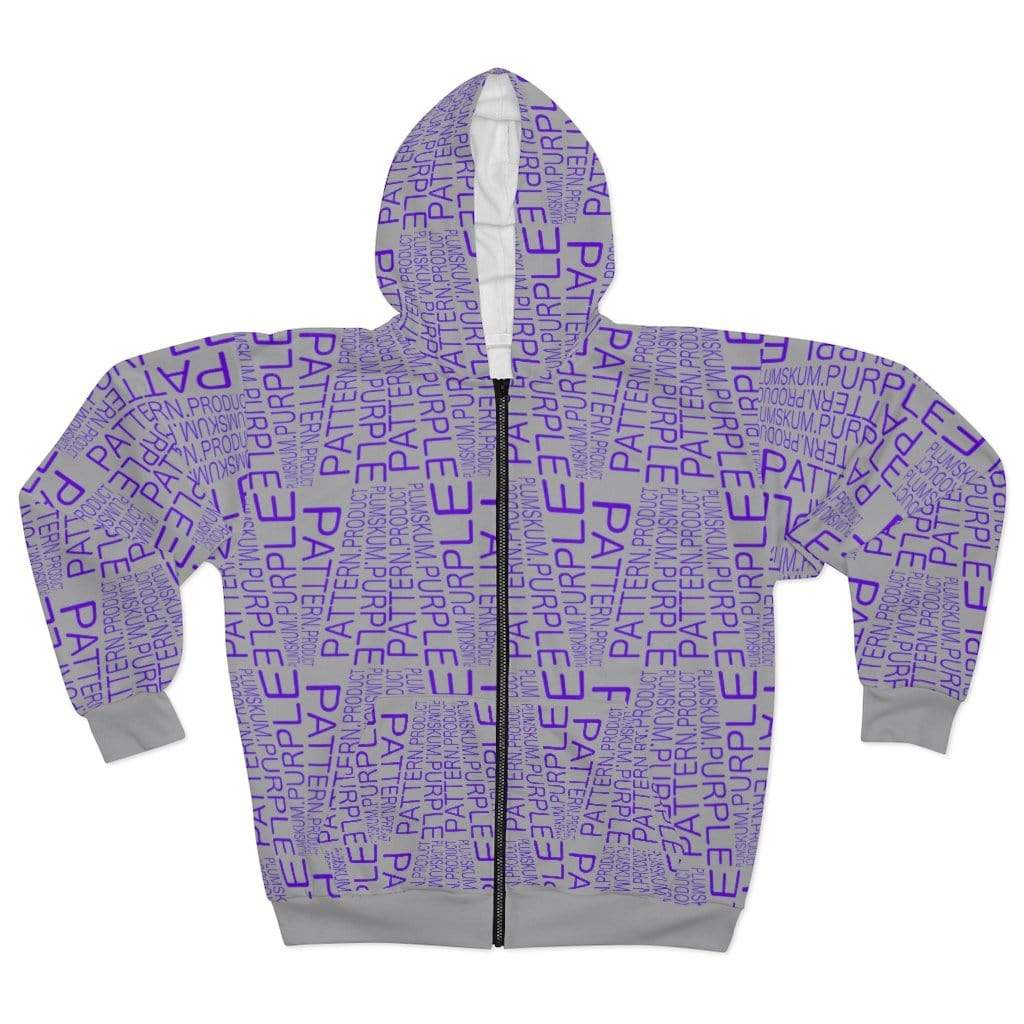 Printify All Over Prints L Plumskum | Purple | Pattern | Product | Zip Hoodie