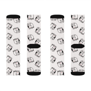 Printify All Over Prints M Chef Kymmy Kitchen Socks