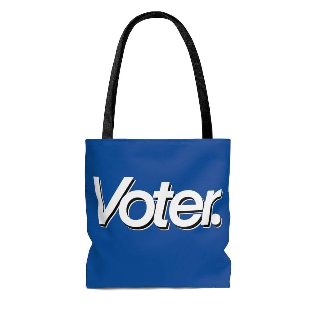 Printify Bags I Am a Voter AOP Tote Bag Blue