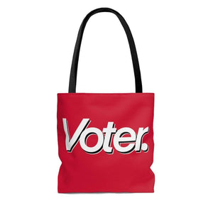Printify Bags I Am a Voter AOP Tote Bag Red