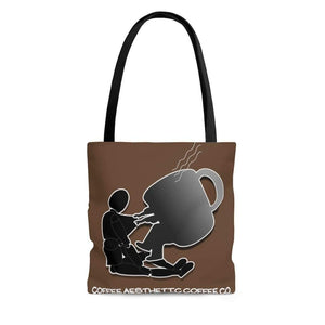 Printify Bags Large Coffee Aesthetic Coffee Co. AOP Cafe Tote Bag