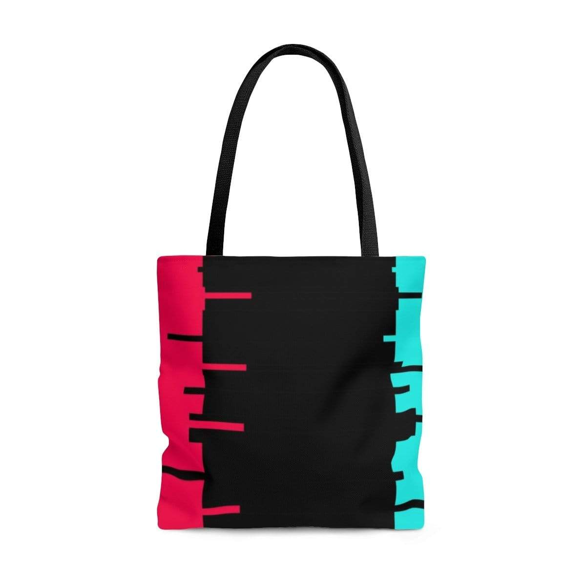 Printify Bags Large Glitch Aesthetic Tote Bag By Plum
