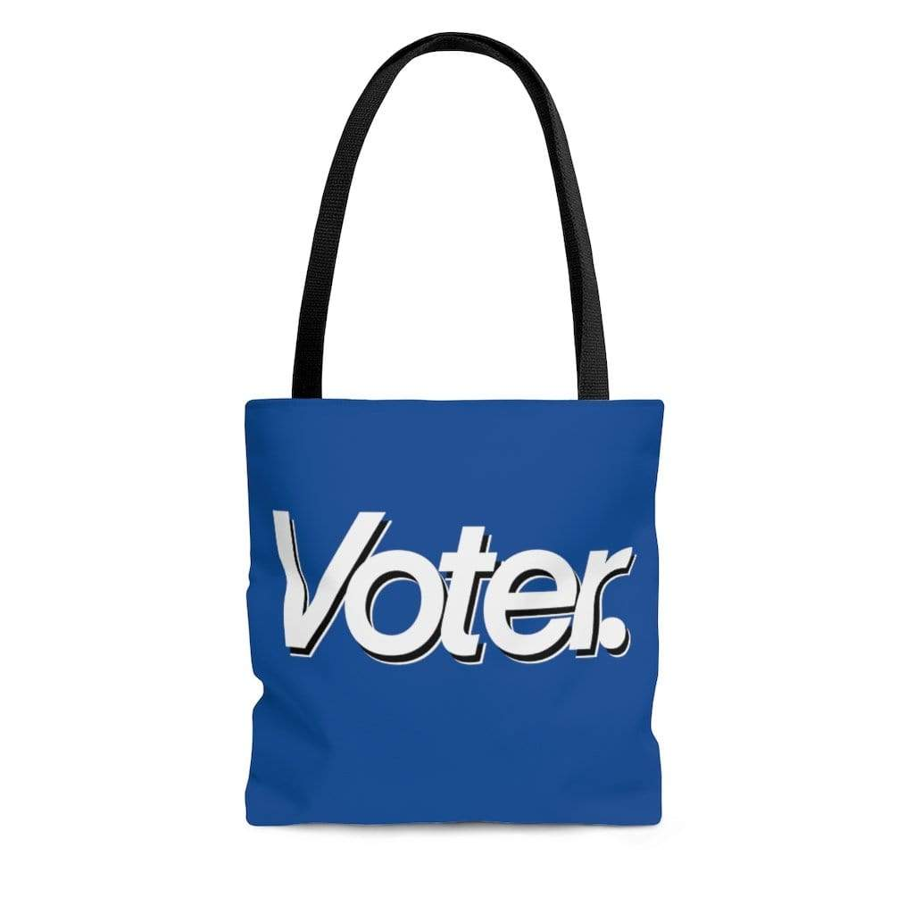 Printify Bags Large I Am a Voter AOP Tote Bag Blue