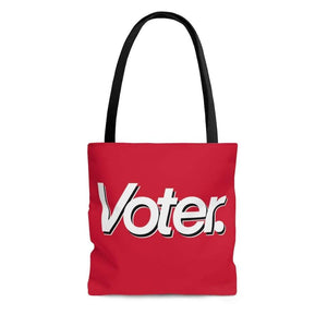 Printify Bags Large I Am a Voter AOP Tote Bag Red