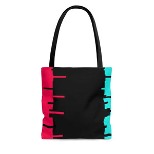 Printify Bags Small Glitch Aesthetic Tote Bag By Plum