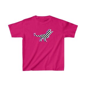 Printify Kids clothes Heliconia / XS Glitch Aesthetic TRex Checker T-Shirt Kids