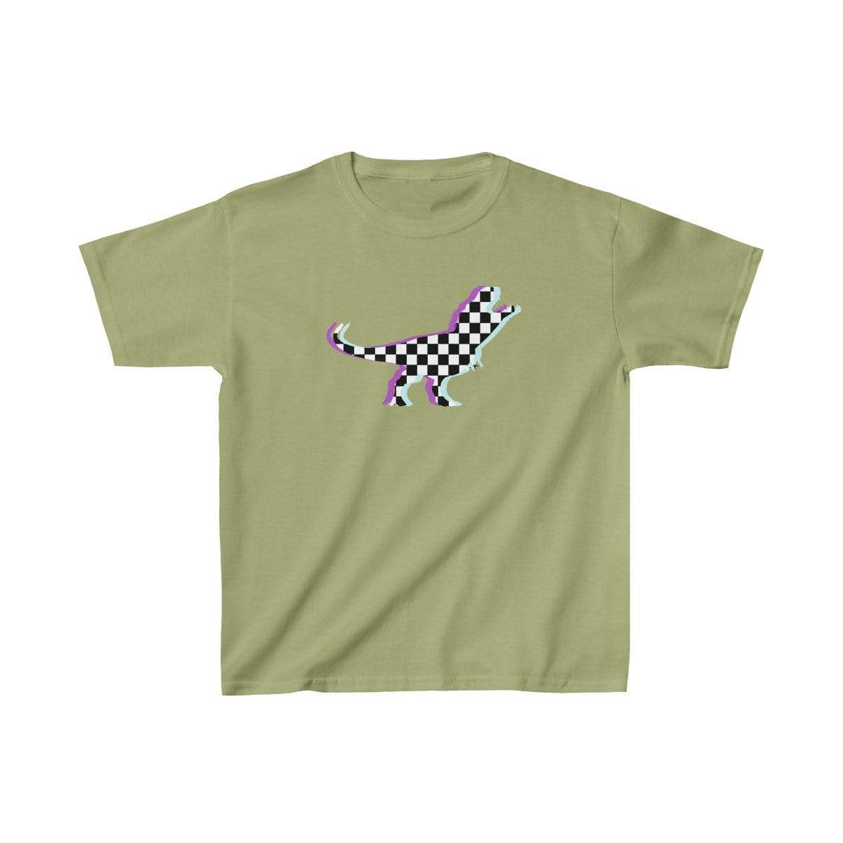 Printify Kids clothes Kiwi / XS Glitch Aesthetic TRex Checker T-Shirt Kids