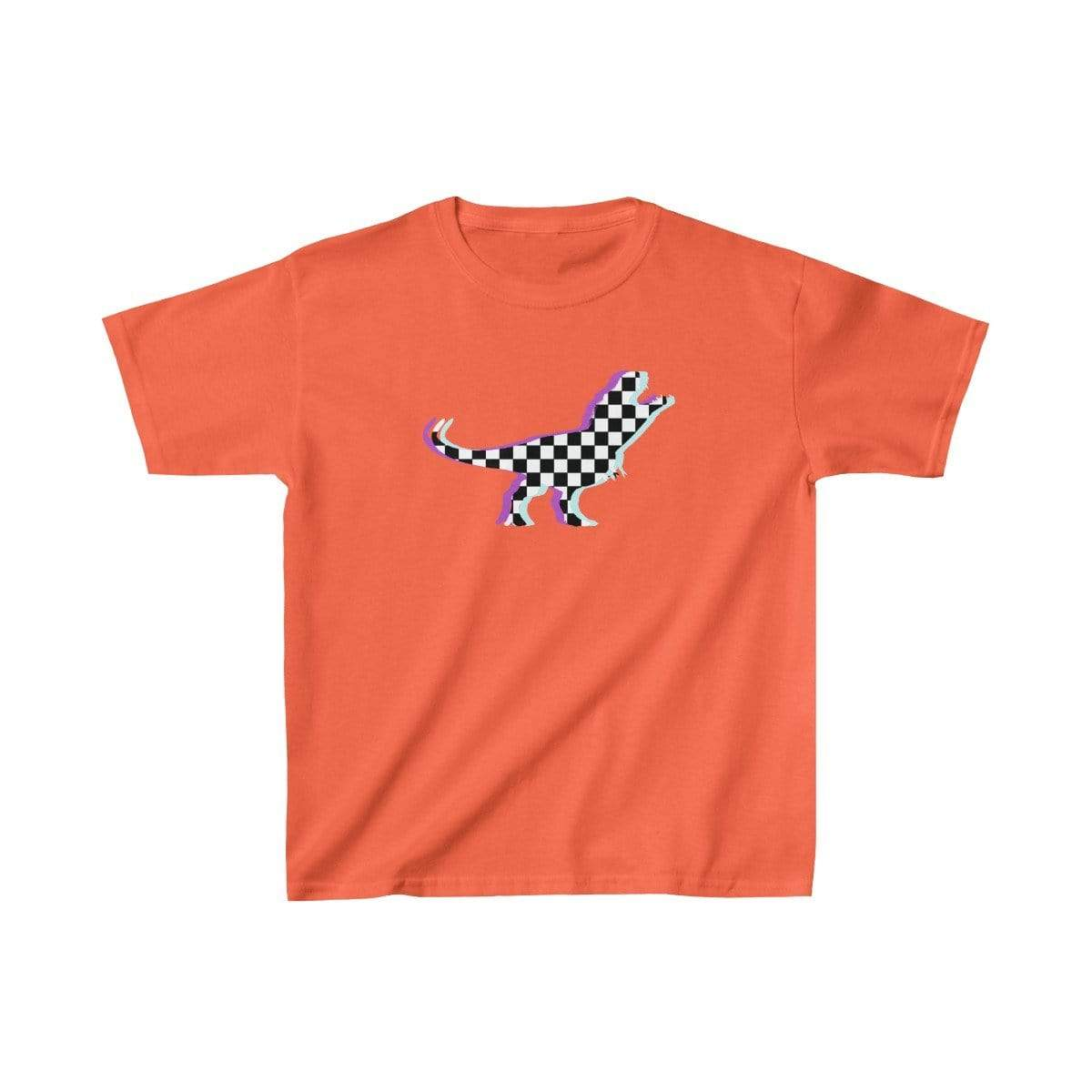 Printify Kids clothes Orange / XS Glitch Aesthetic TRex Checker T-Shirt Kids
