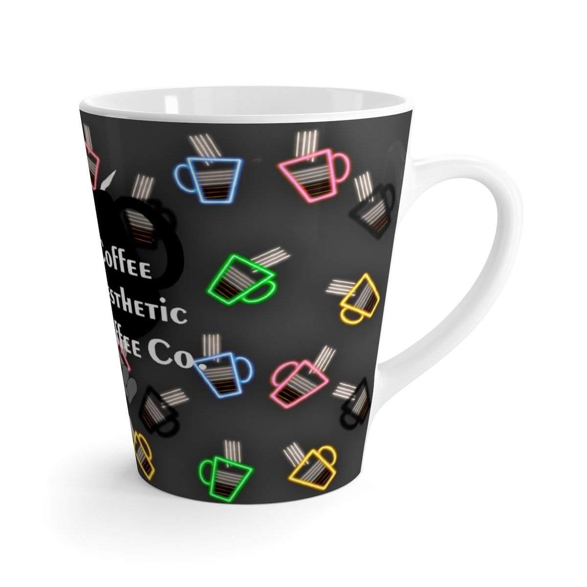 Printify Mug 12oz Coffee-Aesthetic.com - Big 4am Neon Latte mug