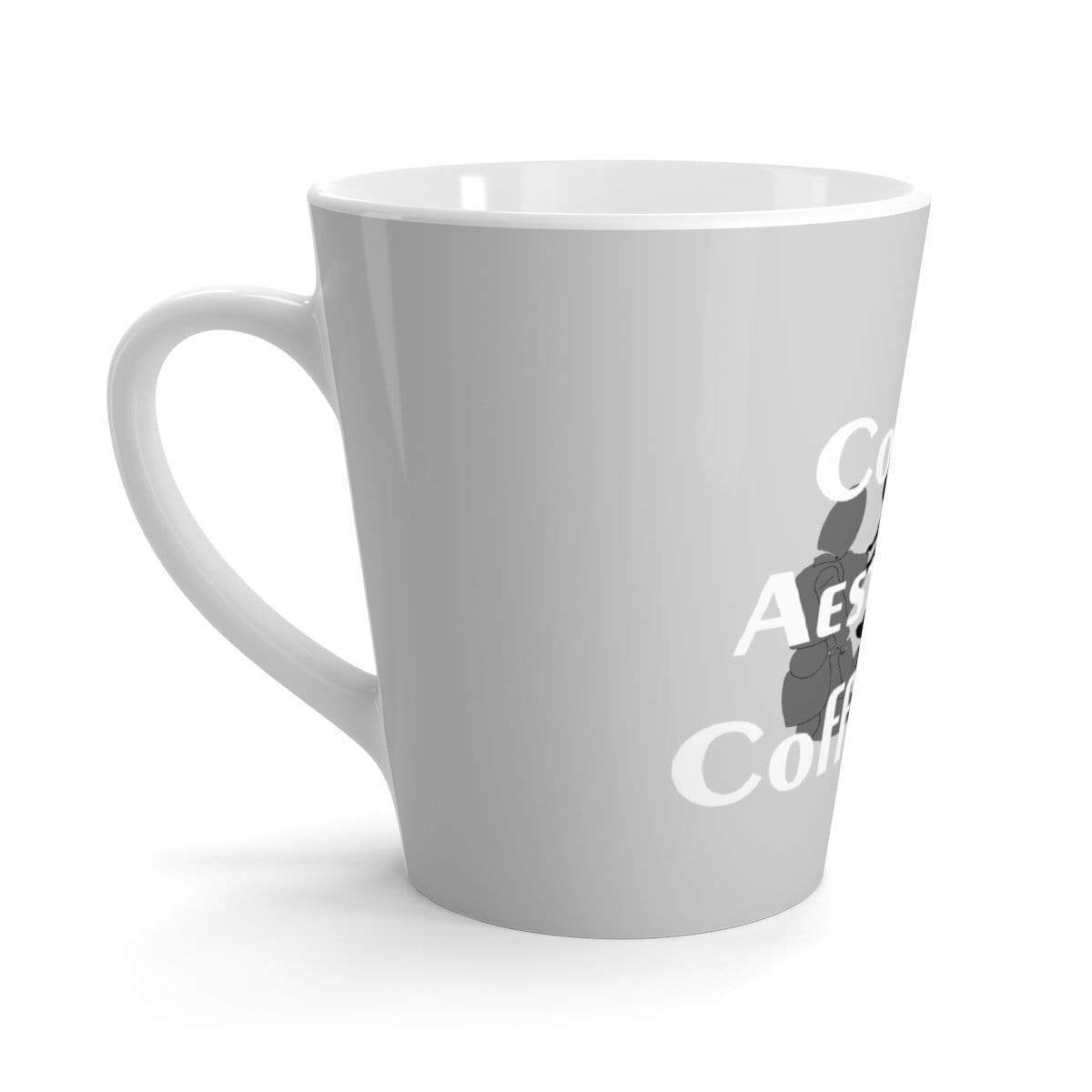 Printify Mug 12oz Coffee-Aesthetic.com Big Grey Latte mug