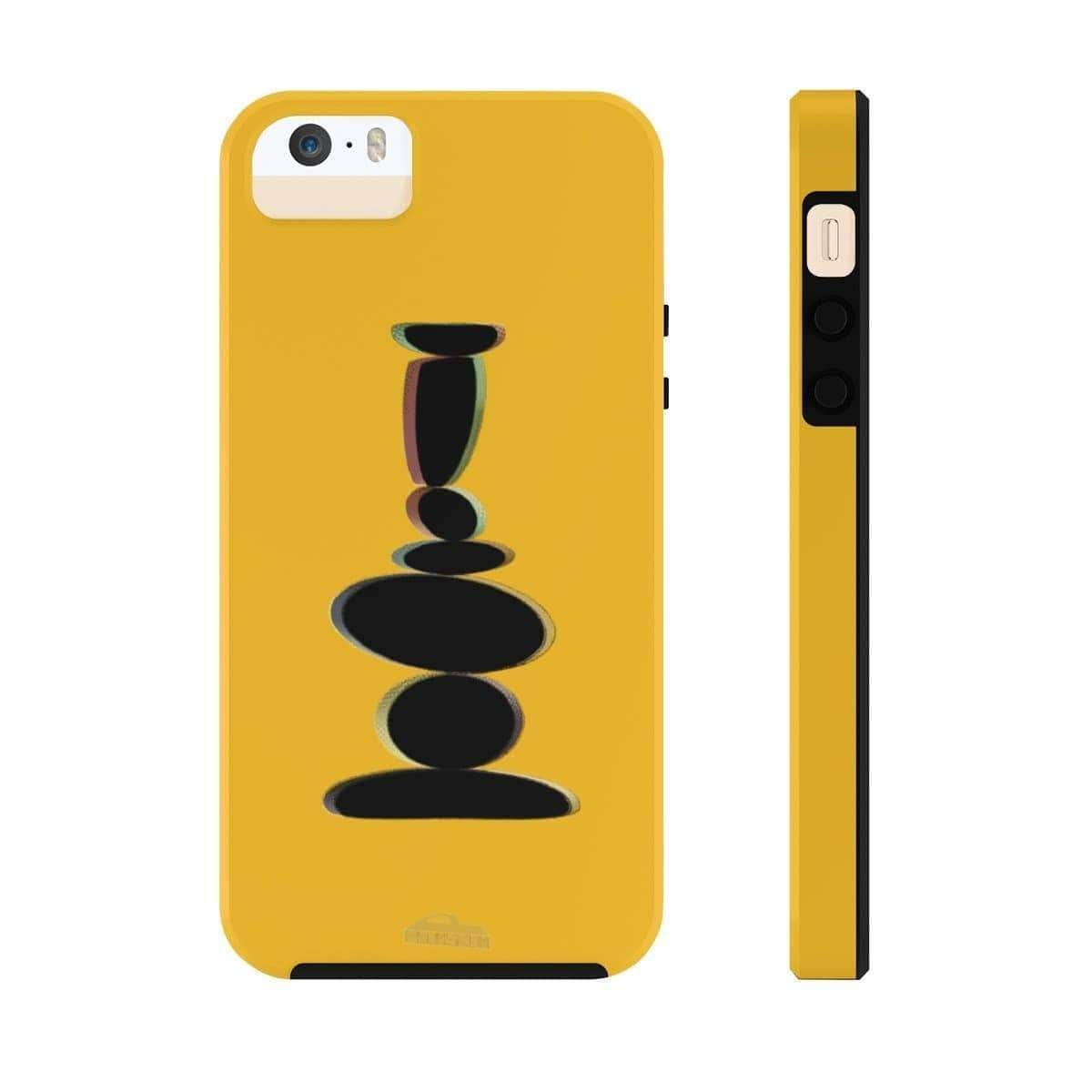 Printify Phone Case iPhone 5/5s/5se Tough Plumskum Zen Balanced Stones Artwork Phone Case