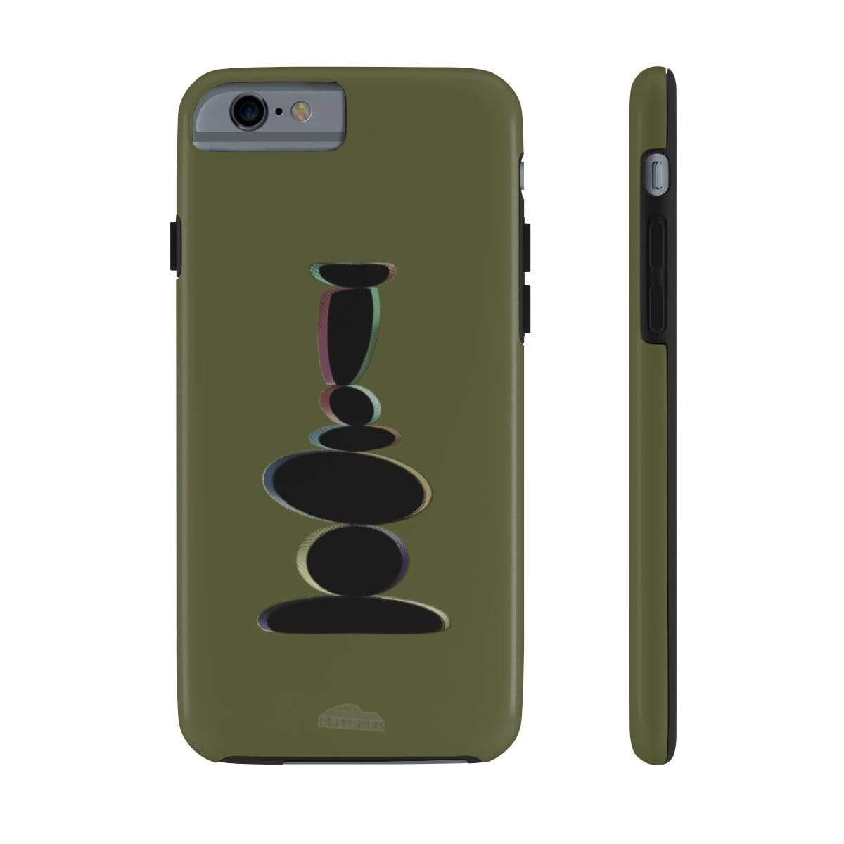 Printify Phone Case iPhone 6/6s Tough Plumskum Zen Balanced Stones Artwork Phone Case