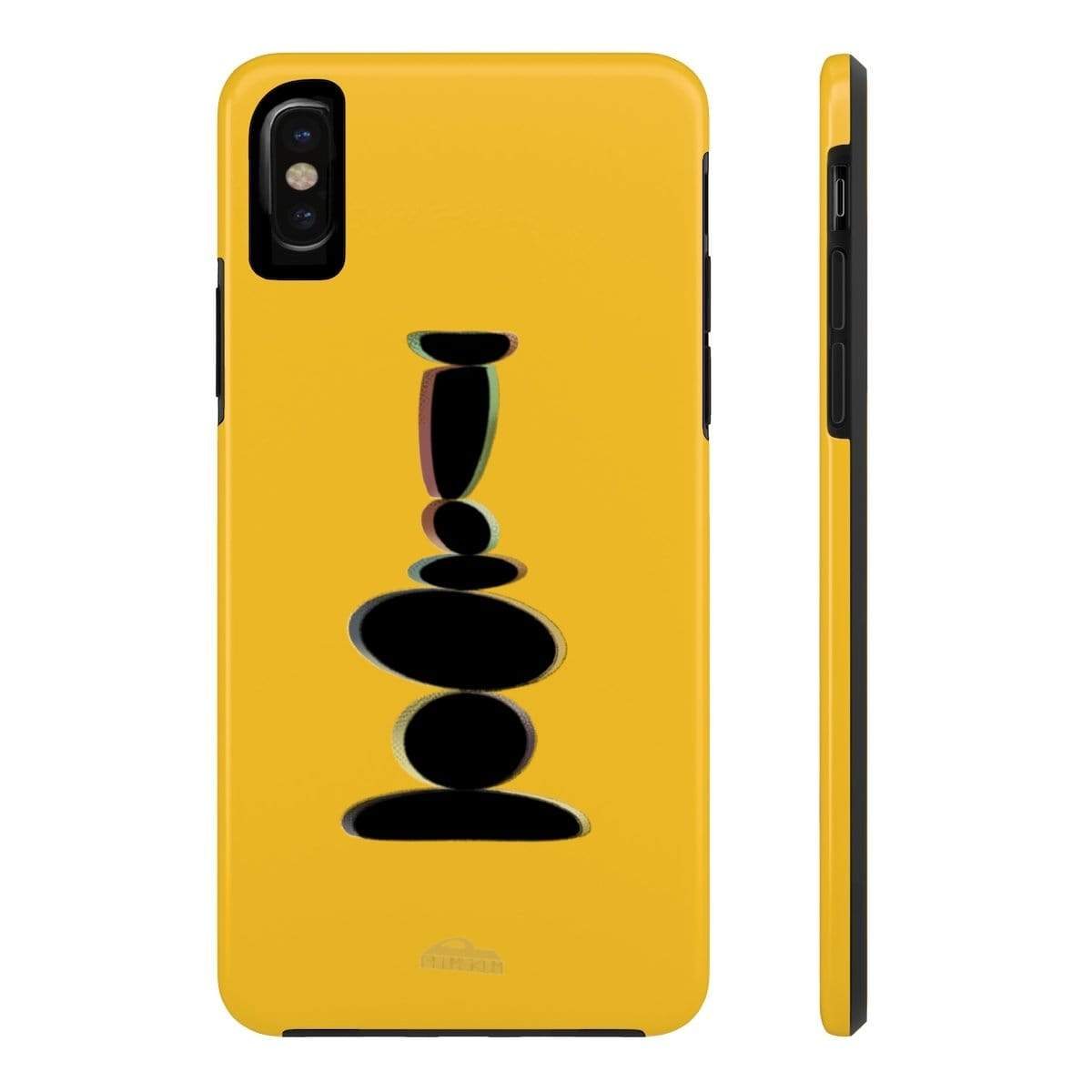 Printify Phone Case iPhone X Tough Plumskum Zen Balanced Stones Artwork Phone Case
