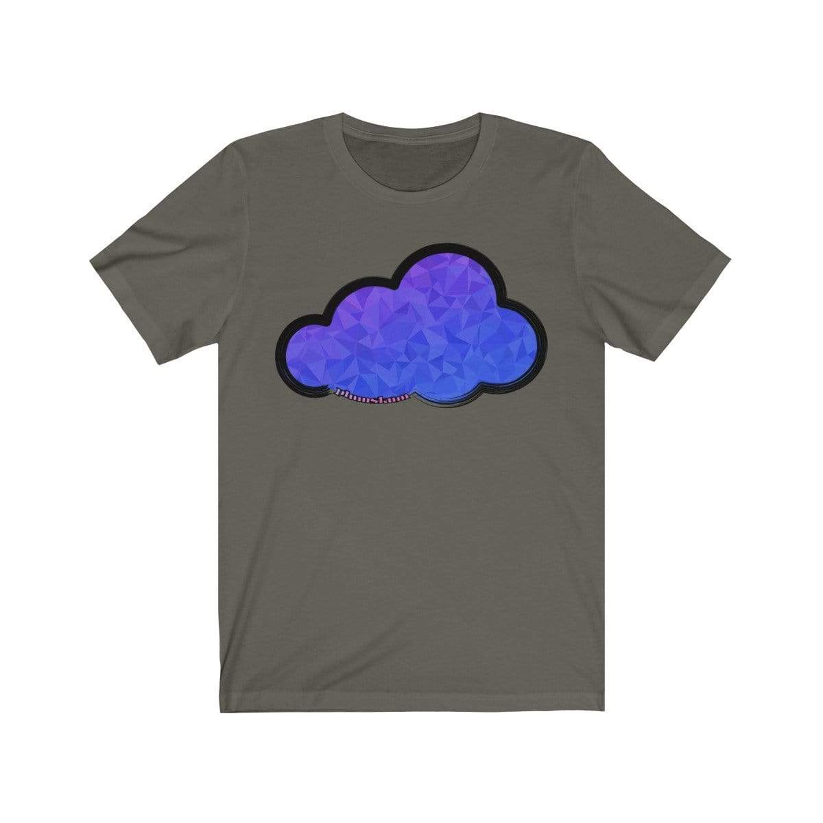 Printify T-Shirt Army / M Plumskum Art Clouds Tee