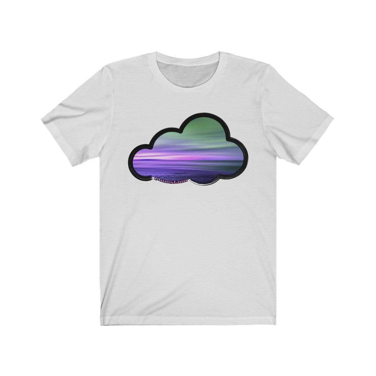 Printify T-Shirt Ash / M Beaches Art Clouds Tee