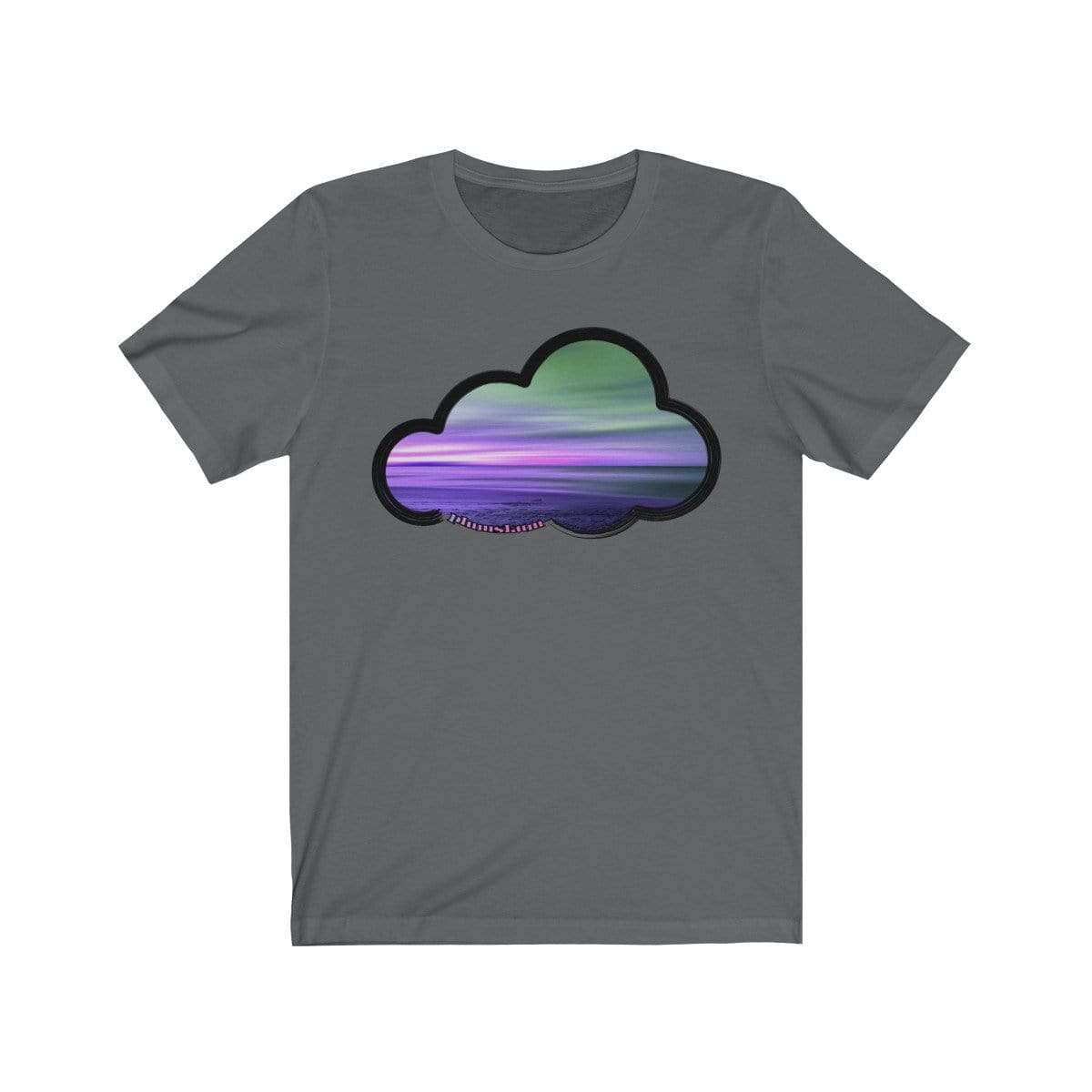 Printify T-Shirt Asphalt / M Beaches Art Clouds Tee