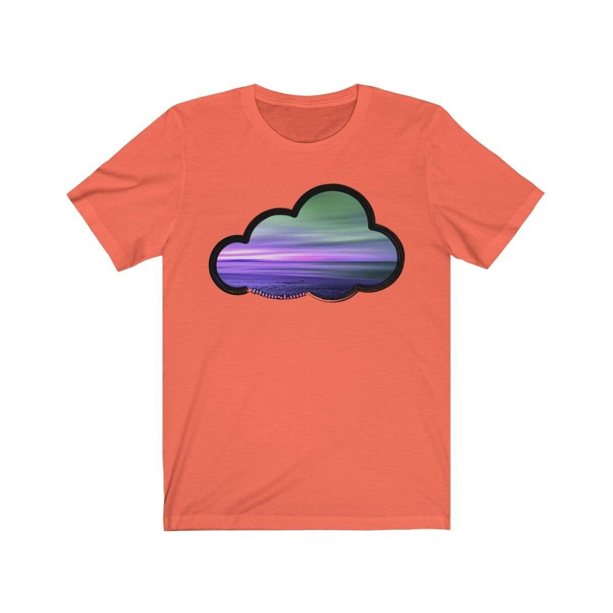 Printify T-Shirt Coral / M Beaches Art Clouds Tee