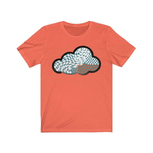 Printify T-Shirt Coral / M Checker Art Clouds T-Shirt