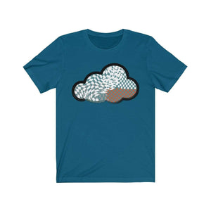 Printify T-Shirt Deep Teal / M Checker Art Clouds T-Shirt