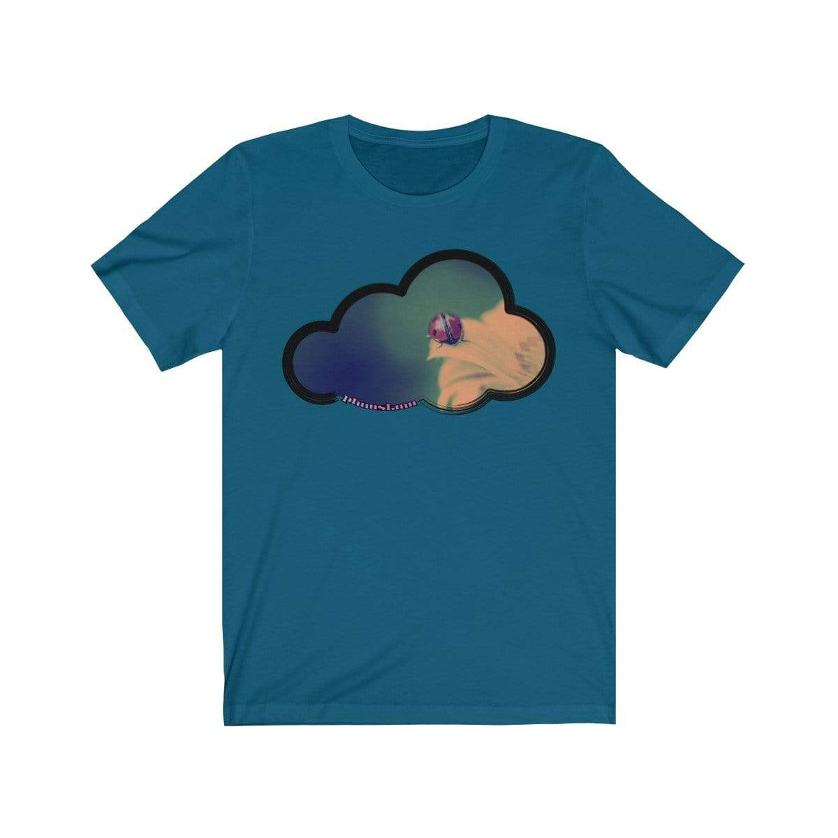 Printify T-Shirt Deep Teal / M Ladybug Art Clouds Tee