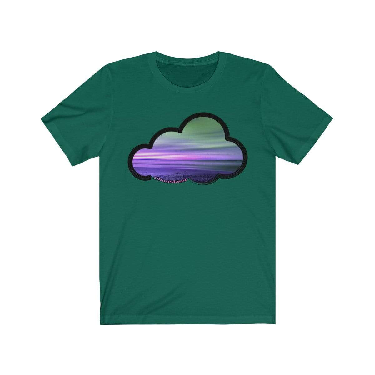 Printify T-Shirt Evergreen / M Beaches Art Clouds Tee