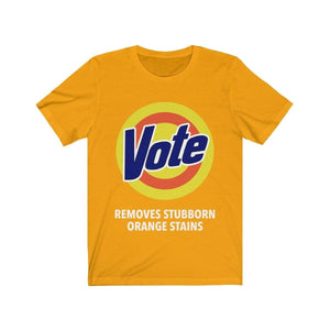 Printify T-Shirt Gold / S VOTE Tee