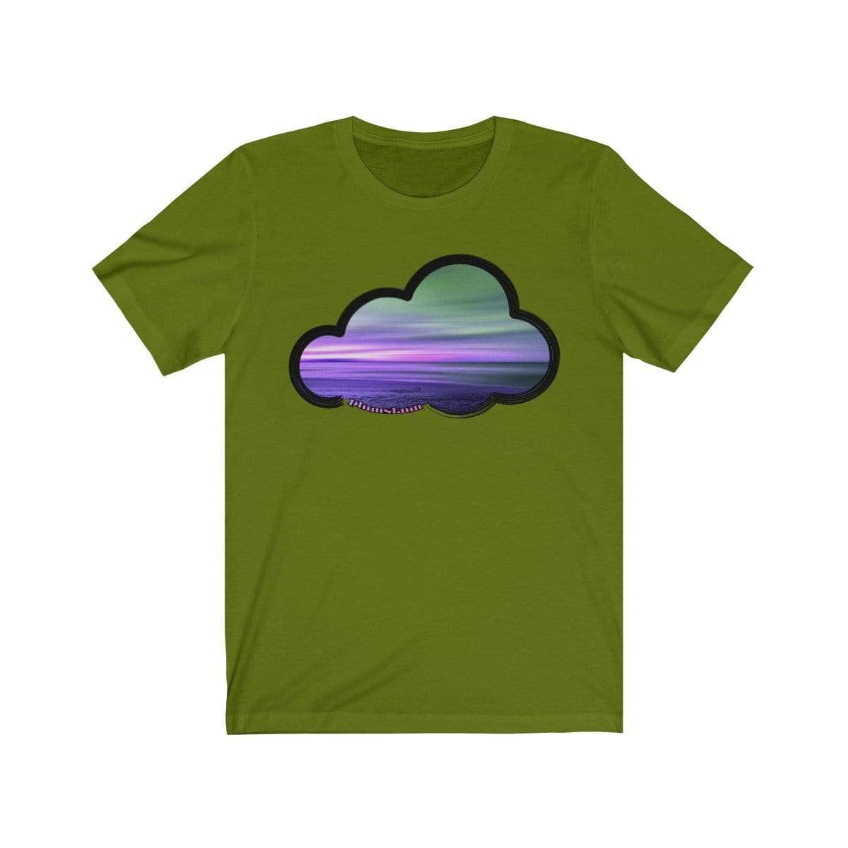 Printify T-Shirt Leaf / M Beaches Art Clouds Tee