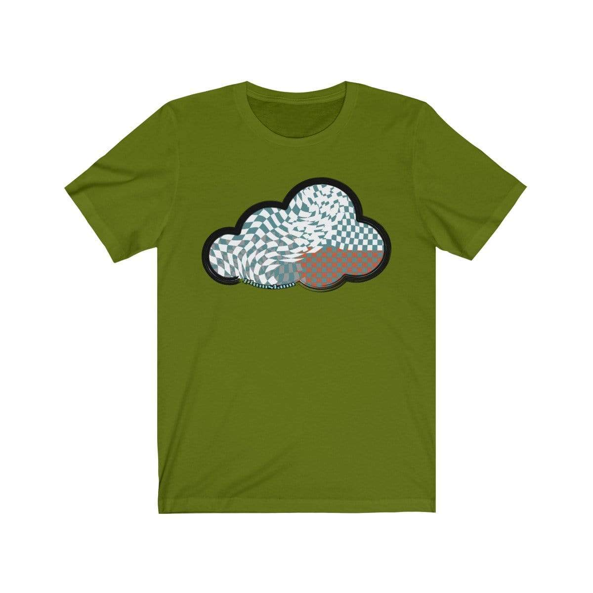 Printify T-Shirt Leaf / M Checker Art Clouds T-Shirt