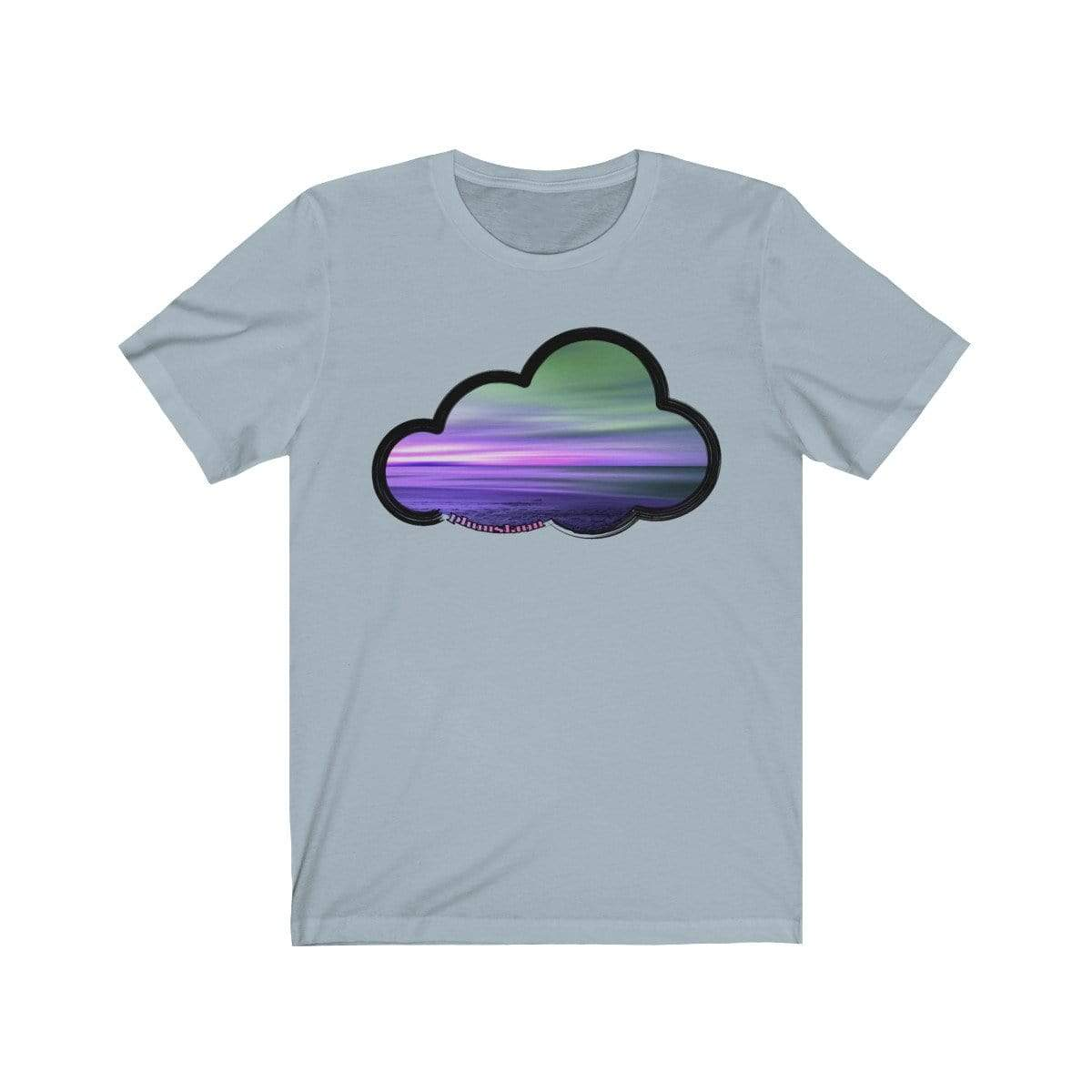 Printify T-Shirt Light Blue / M Beaches Art Clouds Tee