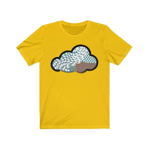 Printify T-Shirt Maize Yellow / M Checker Art Clouds T-Shirt
