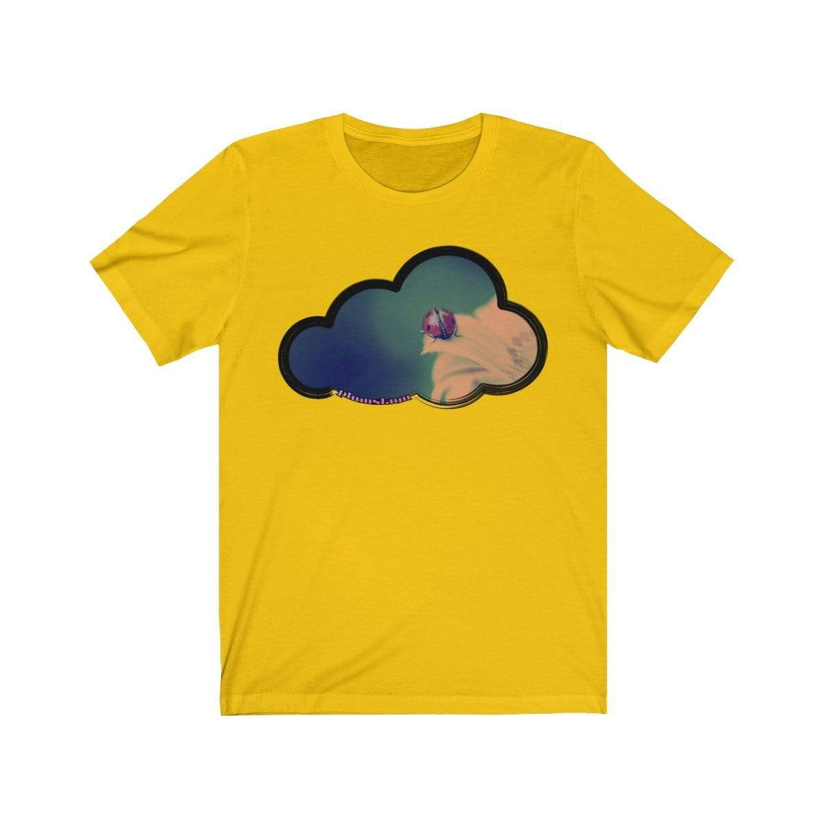 Printify T-Shirt Maize Yellow / M Ladybug Art Clouds Tee