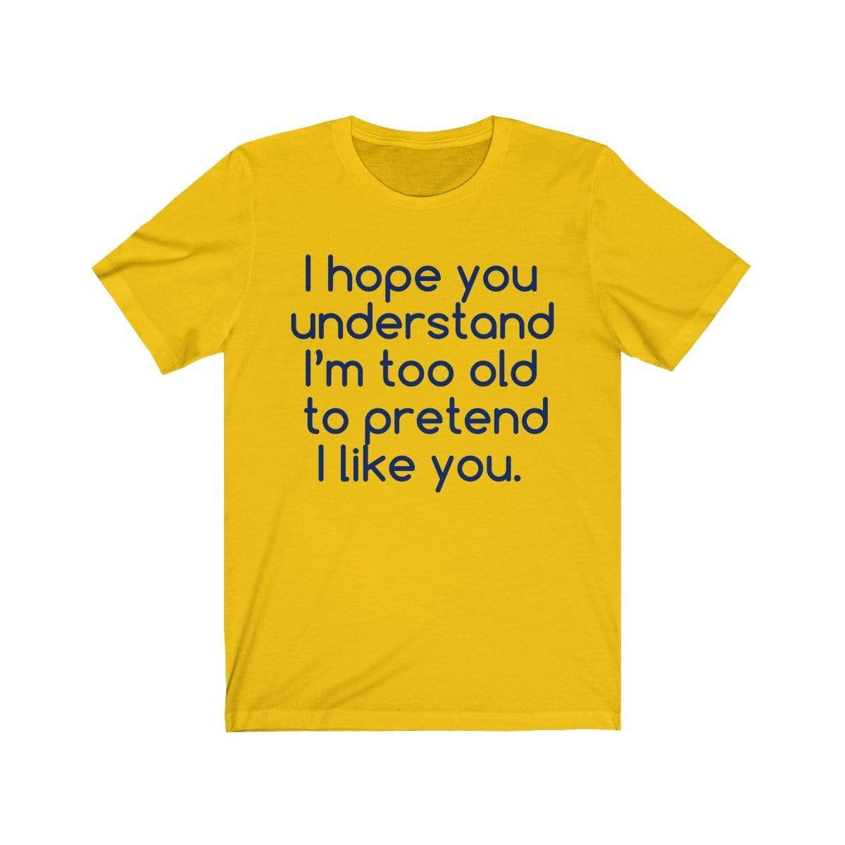 Printify T-Shirt Maize Yellow / S Hope U Understand Meme Tee