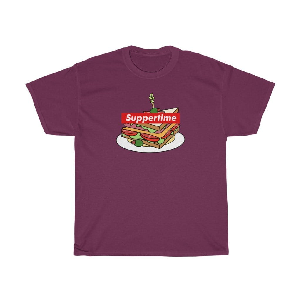 Printify T-Shirt Maroon / S Sup Sandwich Unisex Heavy Cotton Tee
