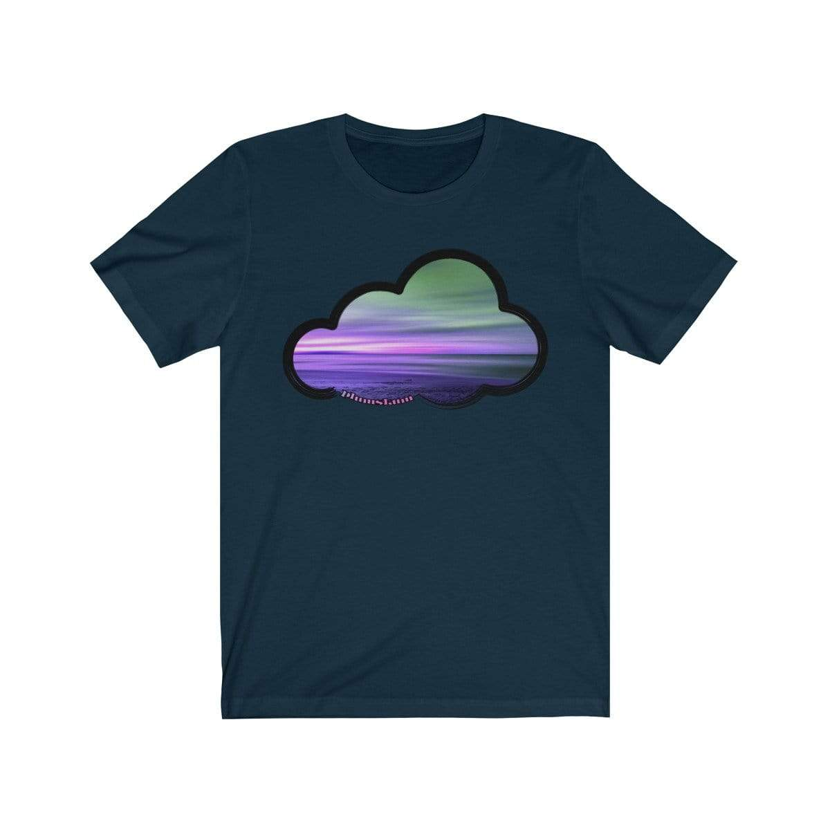 Printify T-Shirt Navy / M Beaches Art Clouds Tee