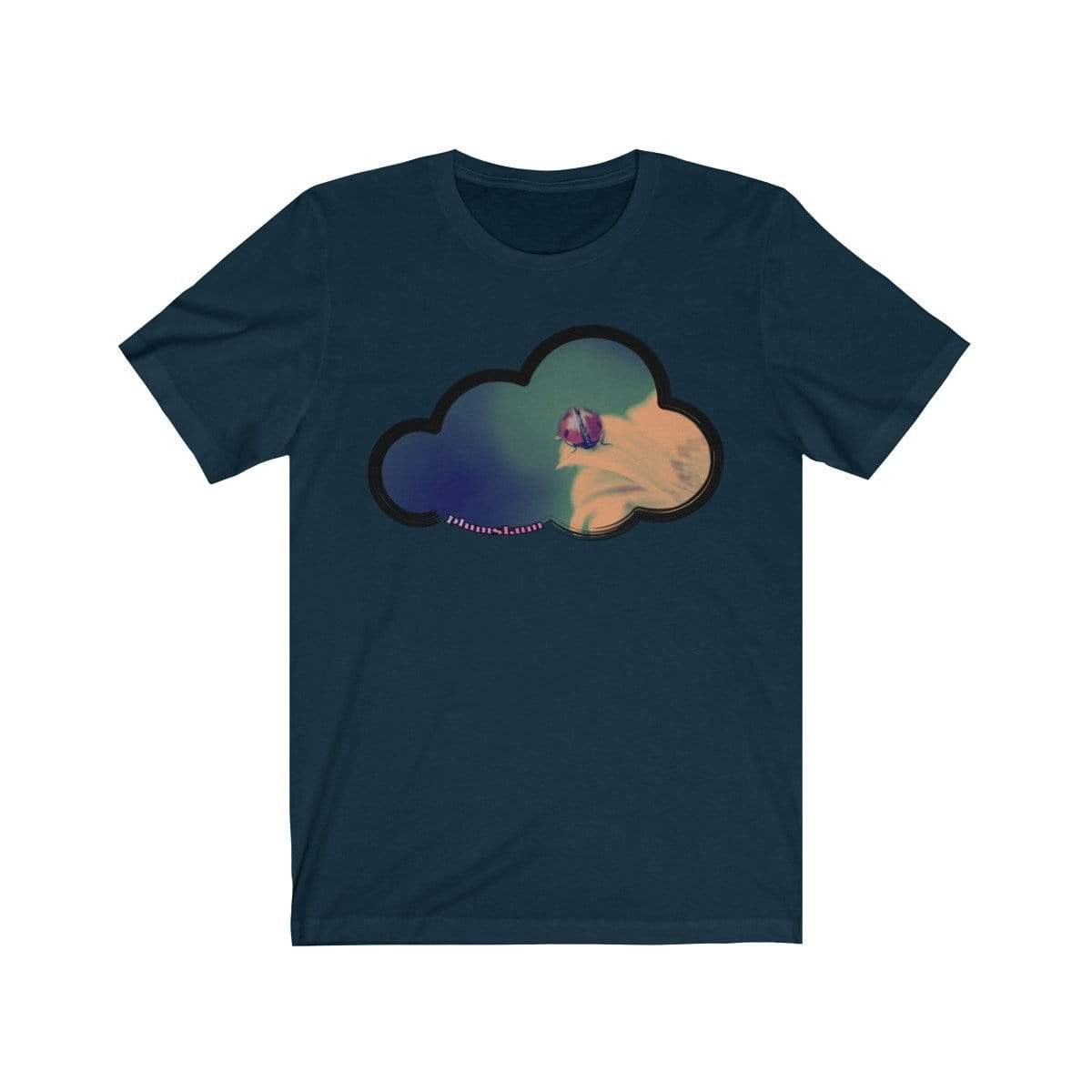 Printify T-Shirt Navy / M Ladybug Art Clouds Tee