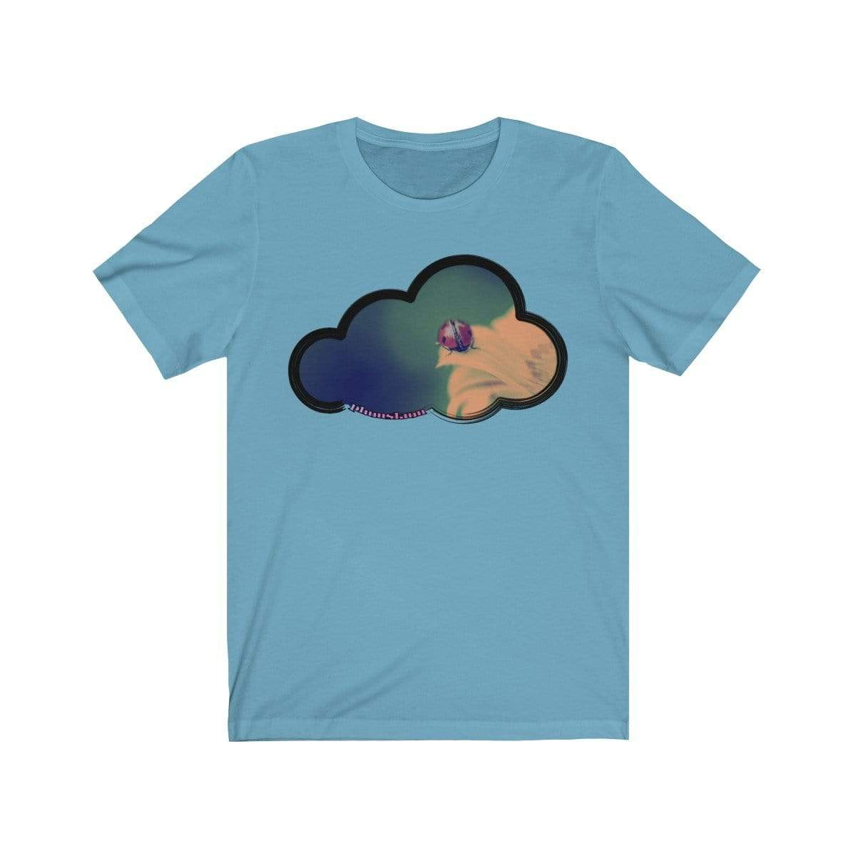 Printify T-Shirt Ocean Blue / L Ladybug Art Clouds Tee