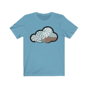Printify T-Shirt Ocean Blue / M Checker Art Clouds T-Shirt