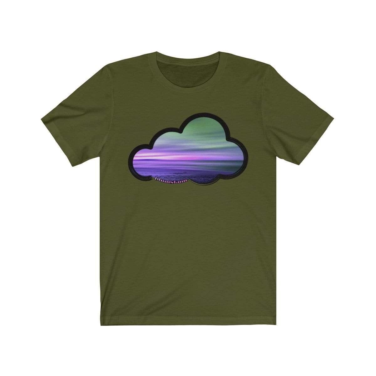 Printify T-Shirt Olive / M Beaches Art Clouds Tee