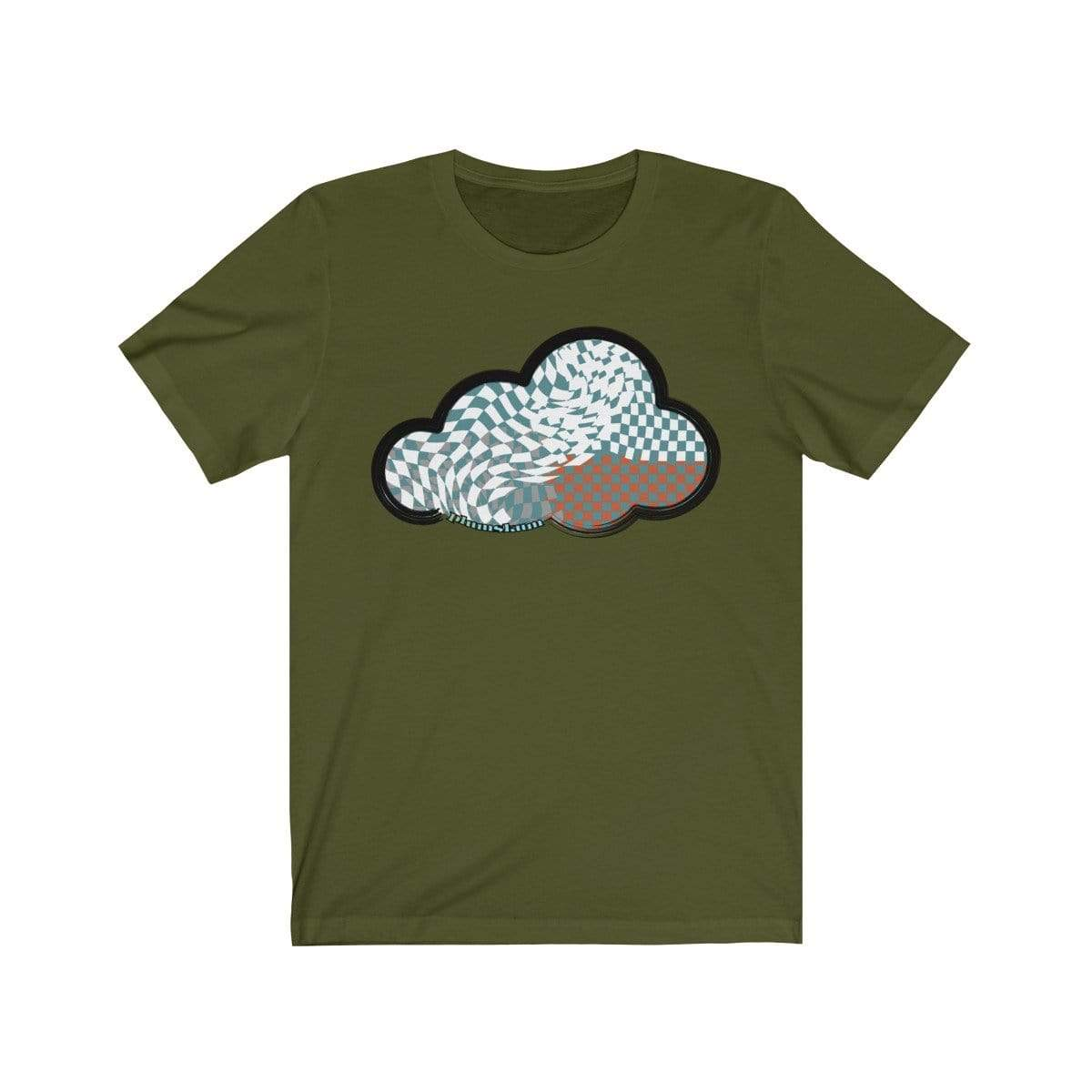 Printify T-Shirt Olive / M Checker Art Clouds T-Shirt