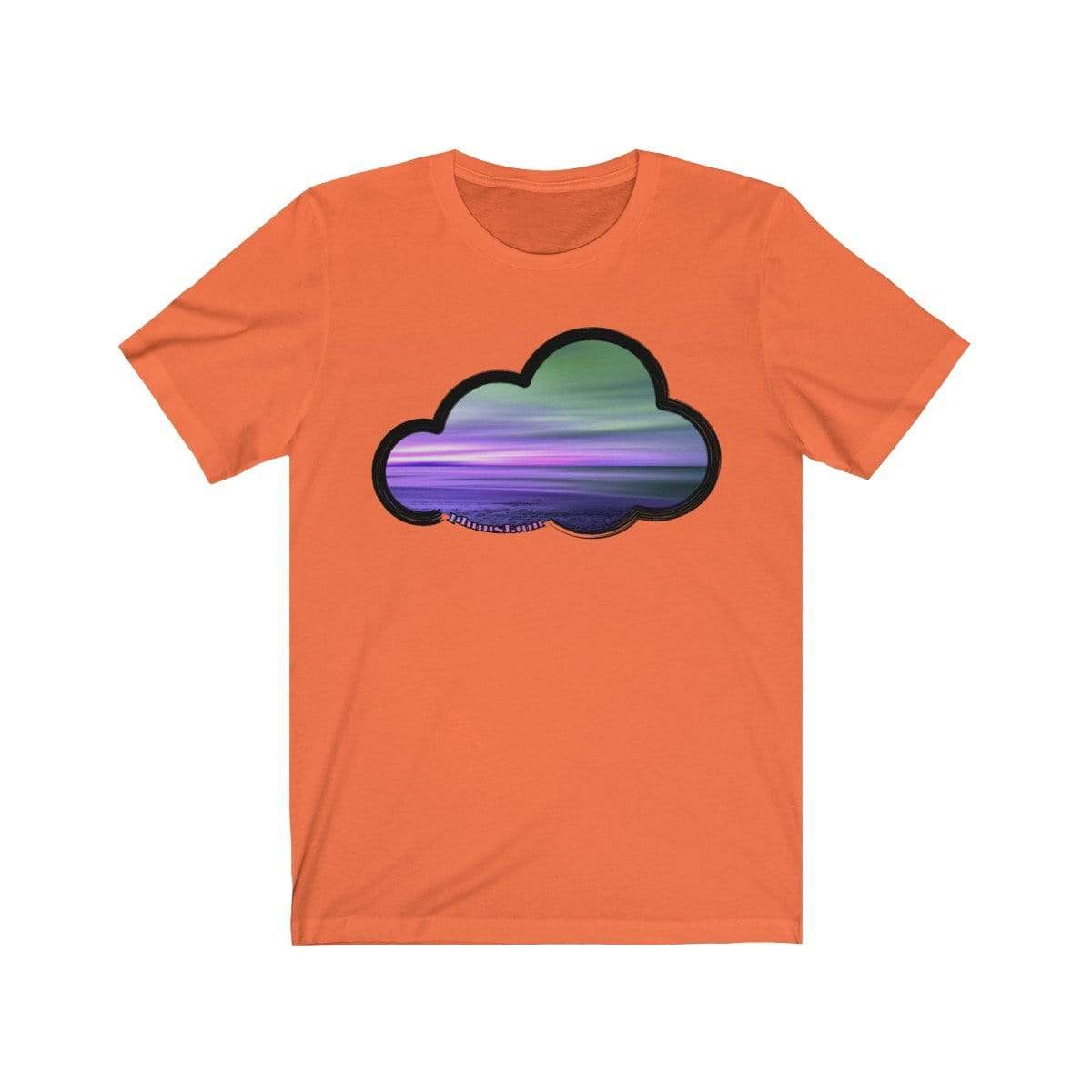 Printify T-Shirt Orange / M Beaches Art Clouds Tee