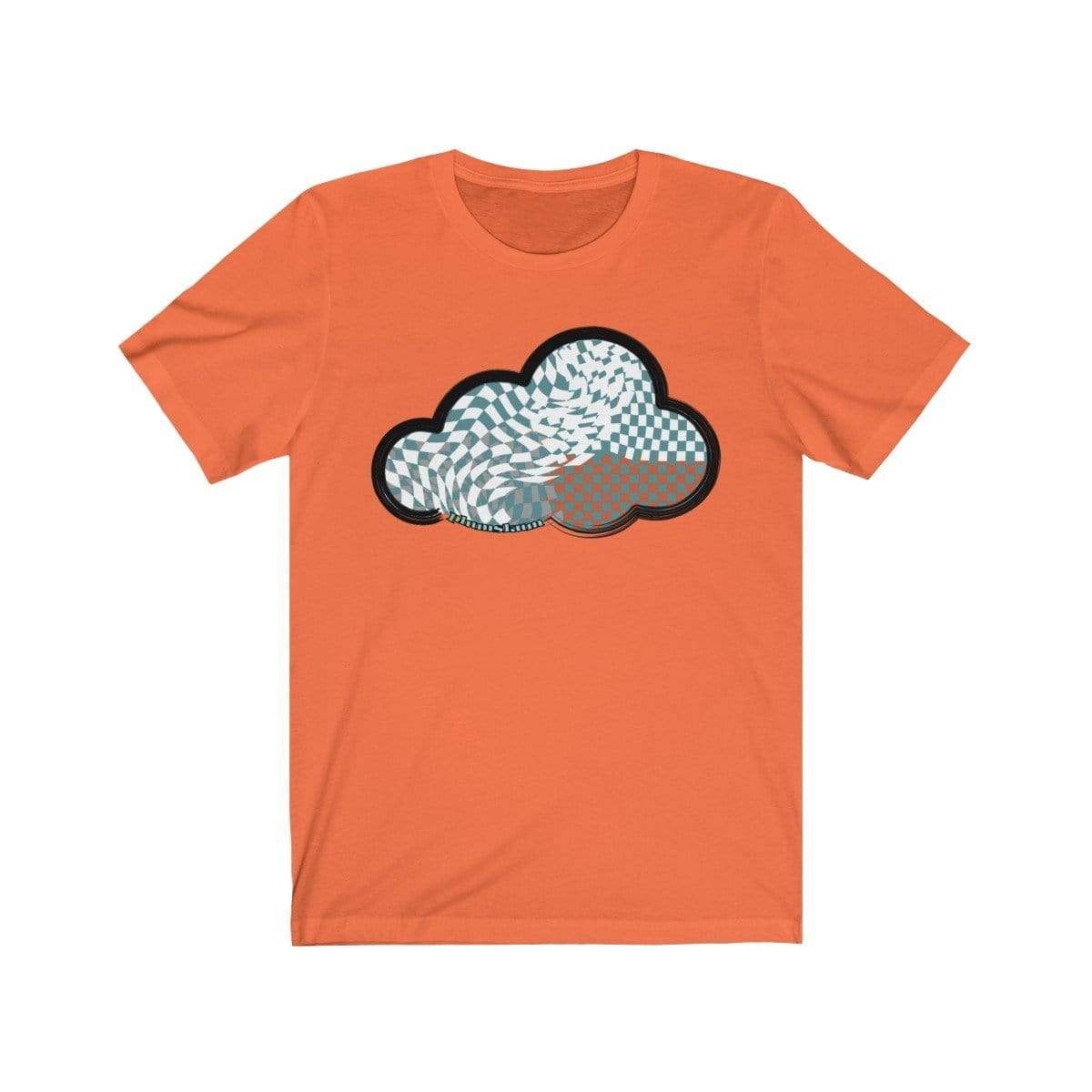 Printify T-Shirt Orange / M Checker Art Clouds T-Shirt